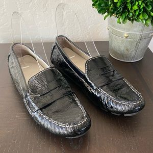 Cole Haan Black Patent Loafers Flats size 6.5